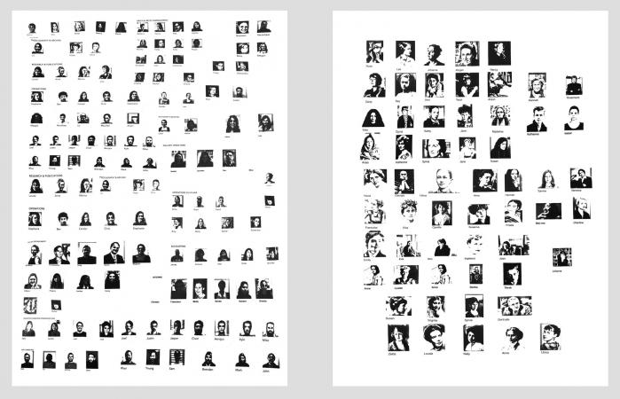 HEAD SHOTS - 2014, inkjet-print on paper, each 18 x 24 in.