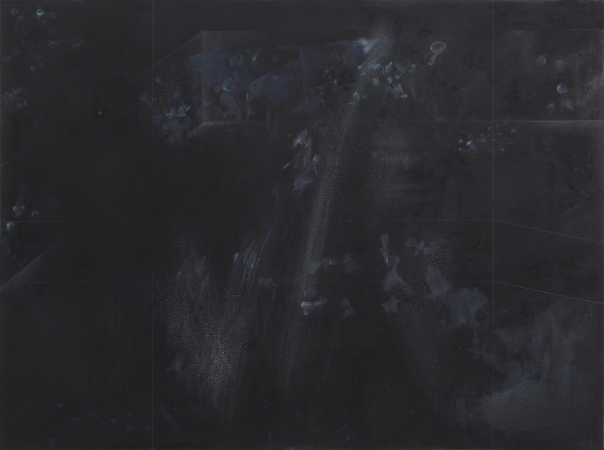 VON ANDEREN WELTEN, 05/2014 I - Pencil, acrylic, oil on wall, 46 x 62 in. / 117 x 157 cm (painted over, exists as video projection)