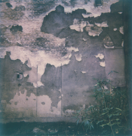 Rehearsal for demolition   - 2019, Polaroid, 3.1 x 3.1 in. / 8 x 8 cm