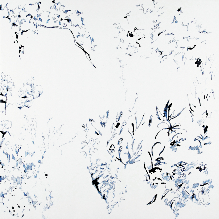 Interior Garden - 2020, ink on paper, 12.4 x 12.4 in / 31,5 x 31,5 cm